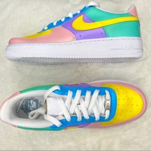 CUSTOMS multicolored Nike af1 retro style